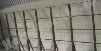 Прудиши. Утепление картофелехранилища, на базе бескаркасного арочного ангара.
