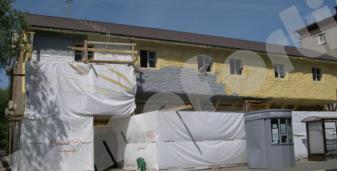 Совхозная. Напыление ППУ, для утепления фасада дома.